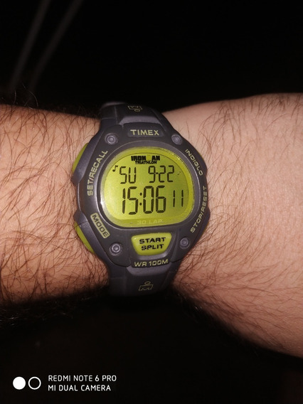 Relógio Timex Ironman Triathlon Fundo Verde