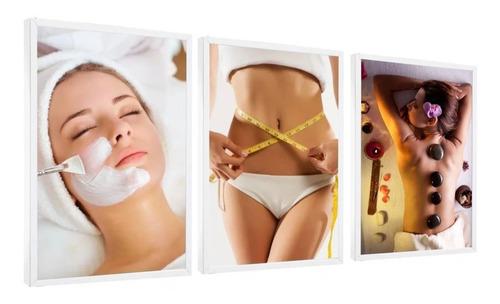 Quadro Decorativo Estética Facial E Corporal Spa Massagem