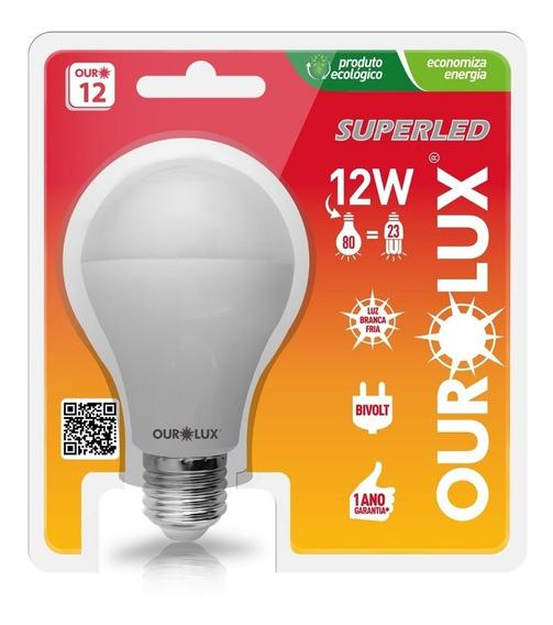 10 Lâmpadas Superled 12w Luz Branca 6500k Original Ourolux