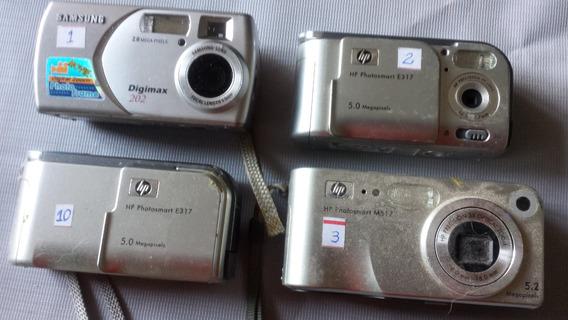 Lote De 5 Câmeras Digitais Com Defeito