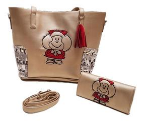 Bolsa Y Cartera Mafalda Bordada Bolso