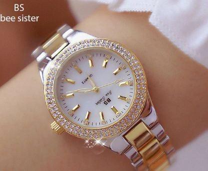 Relógio De Pulso Feminino Bs Sister D Luxo Pura Elegancia