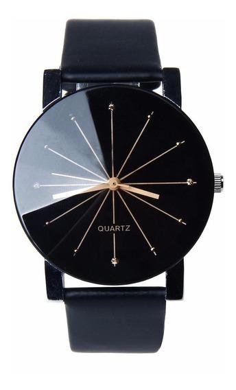 Relógio De Luxo Dos Homens De Negócio Puls/couro Mov/quartzo
