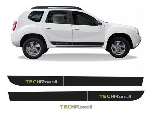 Adesivo Faixa Lateral Traseiro Duster Tech Road Techroad