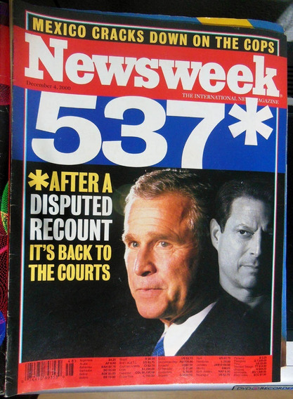 Revista Newsweek 48 George W Bush Ricky Martin - 4 Dez 2000