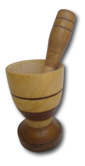 Pilão - Amassador De Tempero Artesanal Madeira Ref: 9510