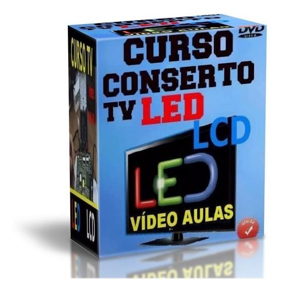 Curso Tv Led Lcd Kit 7 Dvds Video Aulas + Apostila Sony F36