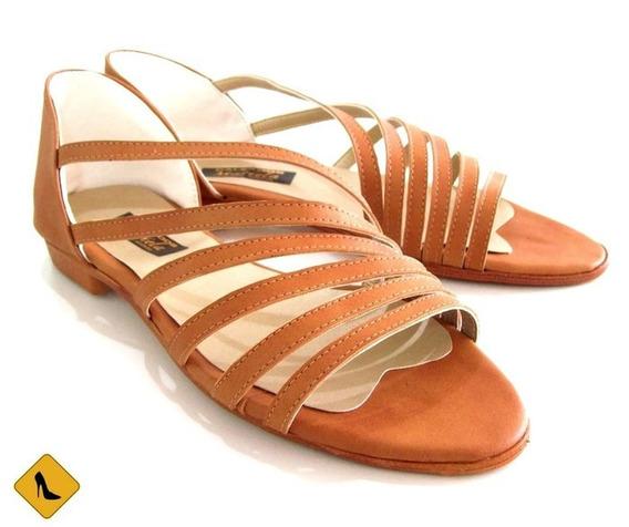 Sandalias Color Tostado Primavera Verano