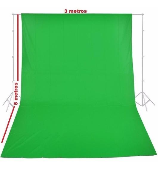 Fundo Fotográfico Tecido Verde Chroma Muslin Background 3x5m