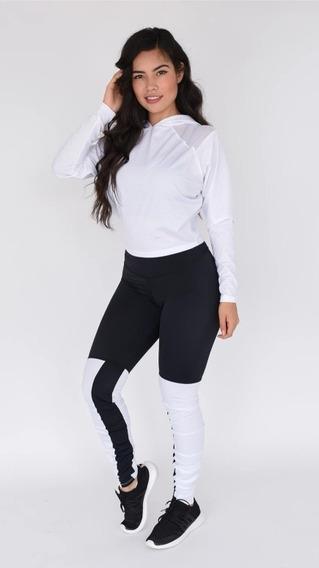 Conjunto Deportivo 2 Piezas Besport Chamarra Y Legging Mujer