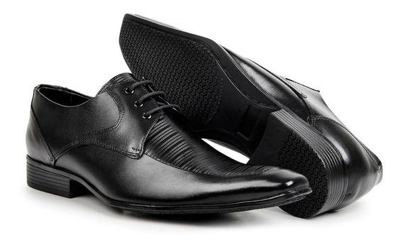 Sapato Estilo Italiano Bigioni 100% Couro Legítimo Bico Fino