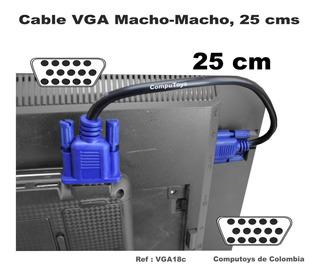 Zvga18c Conecte Cable Vga 25 Cm Super Corto Computoys