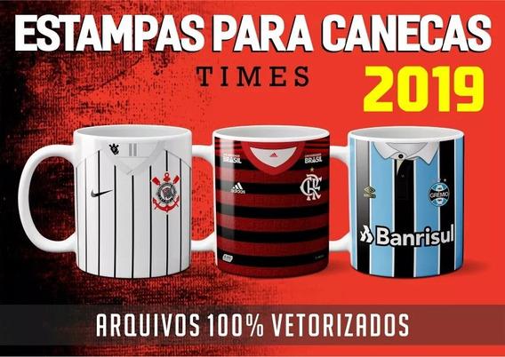 Estampas Para Canecas - Times Brasileiro 2019