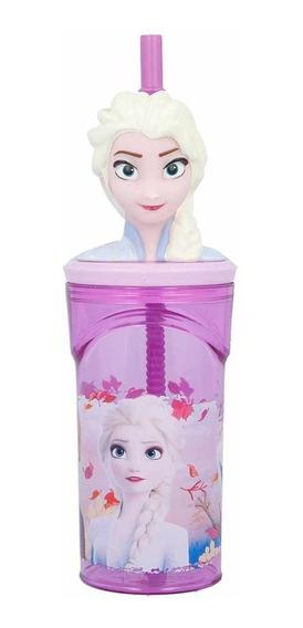 Vaso Frozen Elsa Con Figura En 3d Licencia Original Fa660