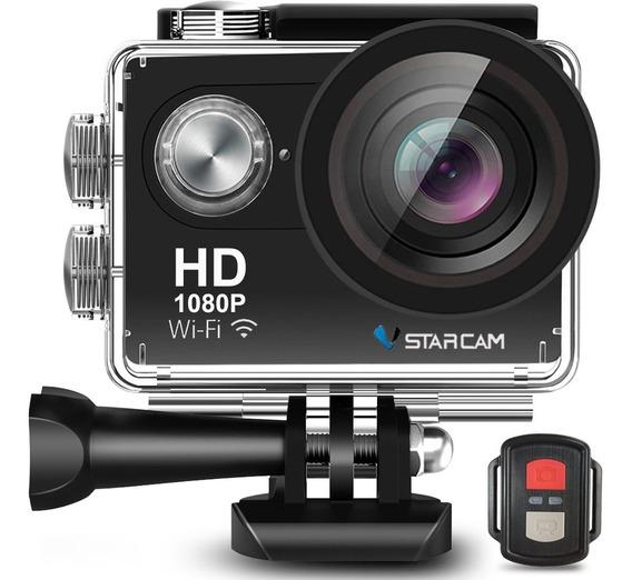 Camara Deportiva Sumergible Full Hd Wifi + Control Remoto + Accesorios Video Filmadora Vstarcam