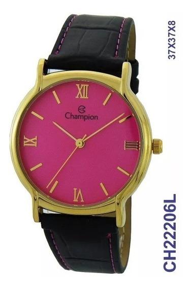 Relógio Champion Feminino Dourado Ch22206l Original + Nf-e