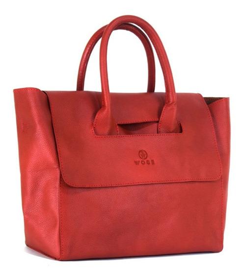 Bolsa Flap 100 % Piel Rojo