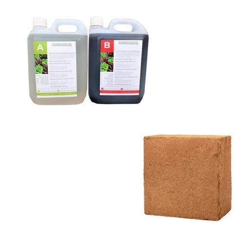 Combo - Bloque Fibra Coco + Pack Nutrientes 2 Litros