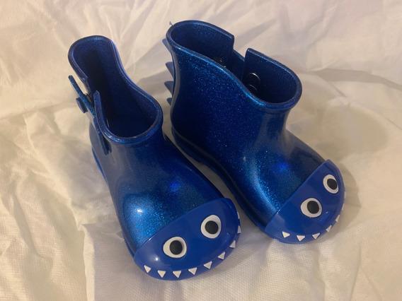 Botas De Lluvia Mini Melissa Sugar Disney Talle 19 Azul