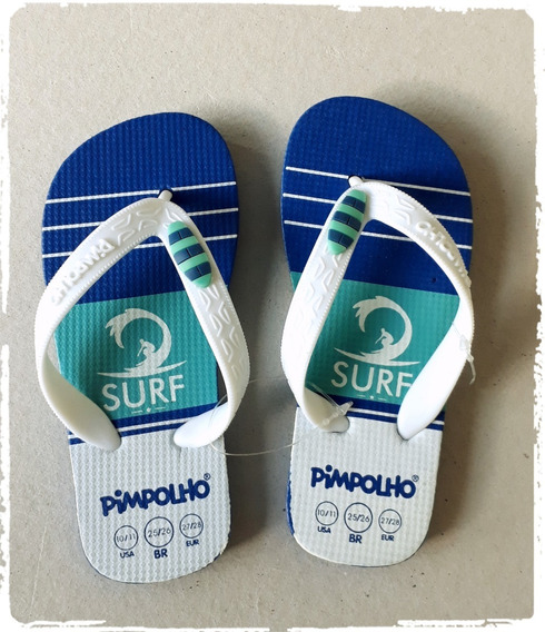 Chinelo Pimpolho Sandália Infantil Praiana Surf Menino