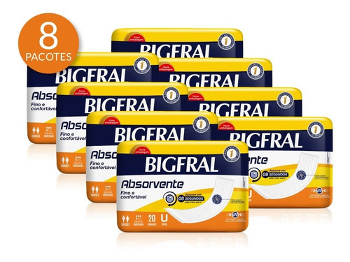 Kit Absorvente Bigfral 160 Unidades