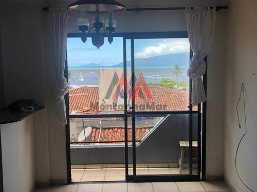 Ref: 12.610 Excelente Apartamento Localizado No  Centro De Caraguatutaba, Bem Localizado Com  2 Dorms, Sendo   1 Suíte, Vista Para O Mar. - 12610