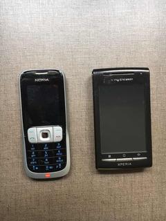 Celular Nokia 2630 + Sony Ericsson Xperia X8 ****