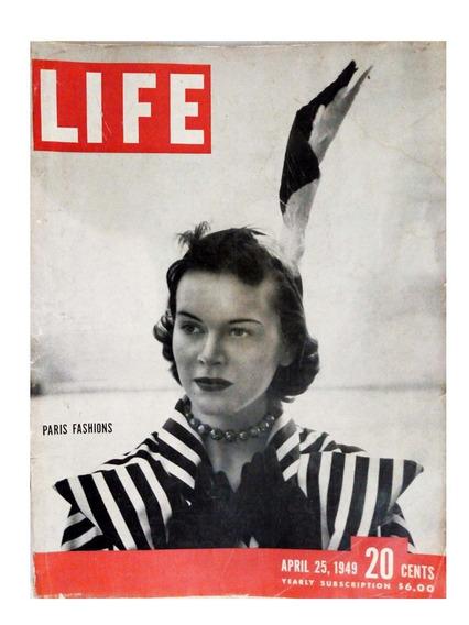 Revista Life Ano 1949 Americana Moda Fashion De Paris Rara
