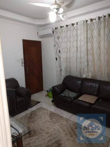 Imagem 1 de 21 de Apartamento Com 2 Dormitórios À Venda, 70 M² Por R$ 477.000,00 - Gonzaga - Santos/sp - Ap5306