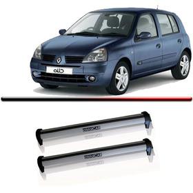 Rack Teto Bagageiro Clio Hatch 4 Portas 01 02 03 04 Aluminio