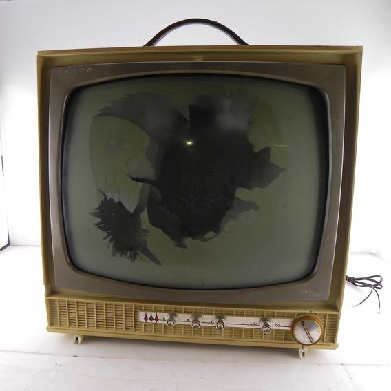 Tv Antiga Philco 16 Decoração C/ Defeito P/ Decoração 2