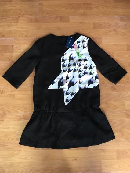 Vestido Corto Negro Do+be Talla S