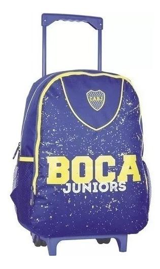 Mochila Boca Juniors Carrito Colegio Original Lic Oficial