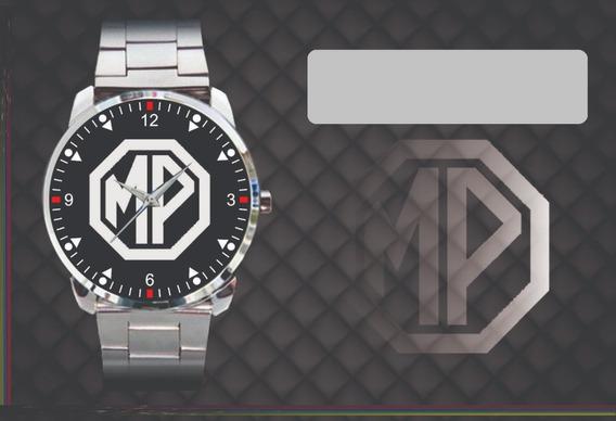 Relógio De Pulso Personalizado Logo Mp Lafer Classico Antigo