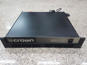 Amplificador Potência Crown 800 Csl Rms 2x400w 4 Ohms 220v