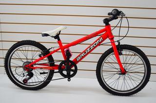 Bicicleta Rodado 20 Mtb Bruzzoni 7 Velocidades Shimano Full