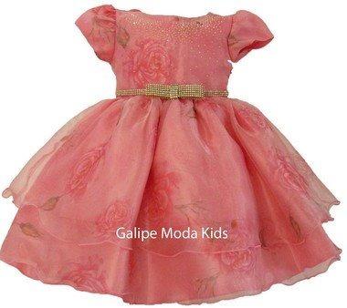 Vestido Jardim Encantado Luxo Infantil De Festa 1 Ao 3