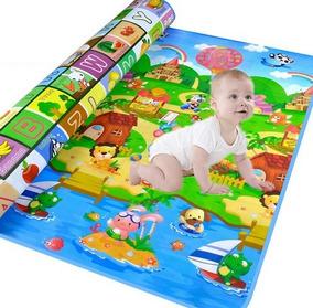 Tapete De Atividade Bebê Infantil Dupla Face 180x120cm