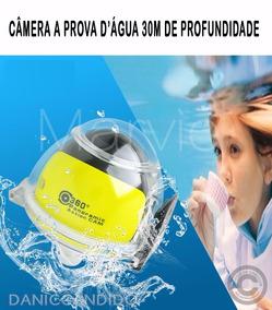 Câmera Filmadora 360° + Óculos Vr 3d + Micro Sd 64 Gb 2017