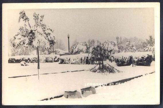 Rio Grande Sul - Passo Fundo, Lembrança Da Neve Cartão Postl
