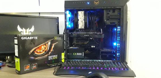 Pc Gamer Intel I7-8700 +gtx 1070 8gb + 16gb Ddr4 +ssd 240gb