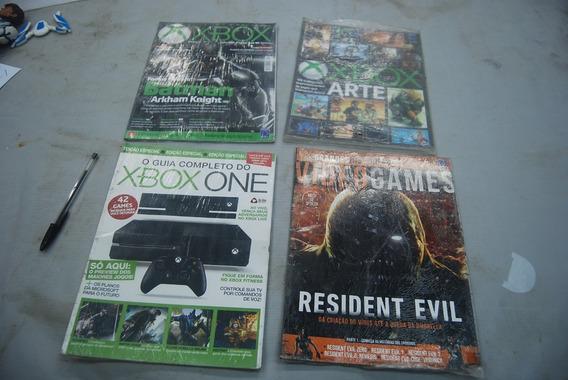 4revistas X Box Artes, Guia Xbox One. Resident Evil E Xbox