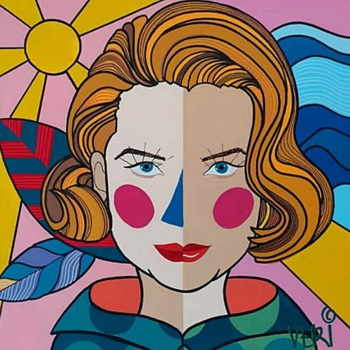 Imagem 1 de 2 de Tela Grace Kelly - Artista Plástica Veridiana