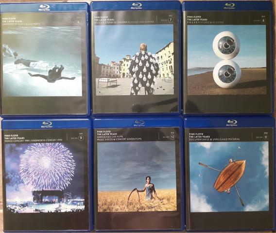 6 Blu-rays Pink Floyd - The Later Years 1987-2019