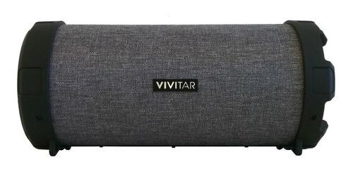Parlante Vivitar Fabric Collection Bluetooth Tube Speaker portátil  gris