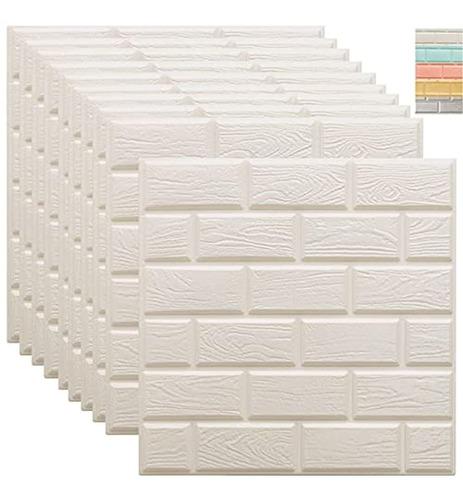 Paneles 3d De Pared 10 Paquetes De Pared De Ladrillo