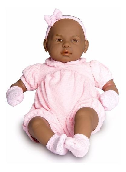 Boneca Bebê Real Negra - C/ Certidão De Nascimento - Roma