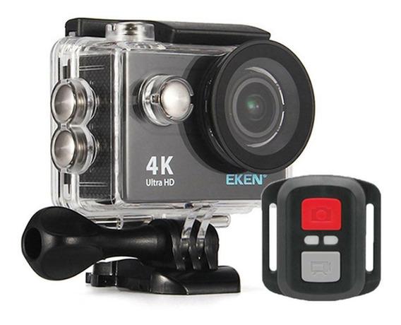 Kit Camera Eken H9r 4k 32gb Surf Mergulho Maleta+ Acessórios