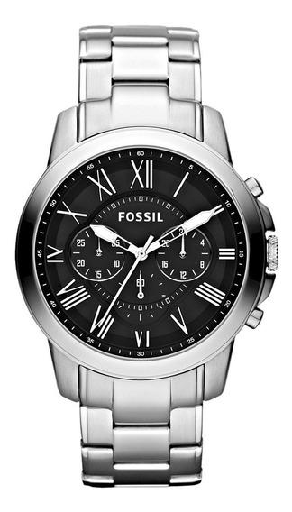 Relógio Masculino Fossil Original Prateado Fs5236/1pn Top