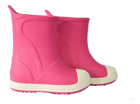 Botas Lluvia Crocs Bump It Boot Fucsia